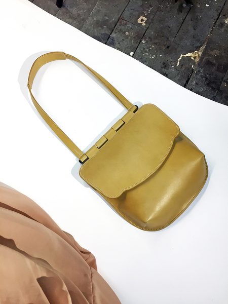 Bartleby Objects Brunella Leather Bag-Yellow