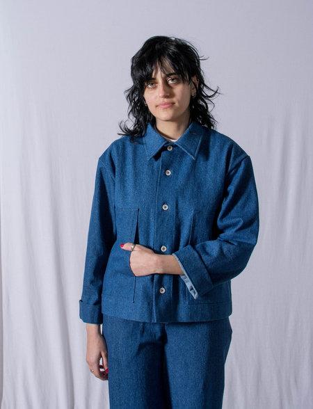 FAAN HIYO denim JACKET - dark blue