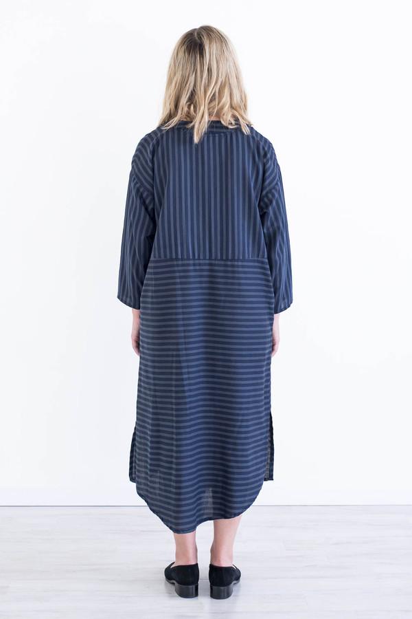 REIFhaus Big Shirt Dress in Navy Stripe