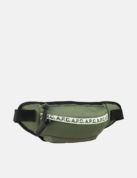 A.P.C. Repeat Hip Bag - Green