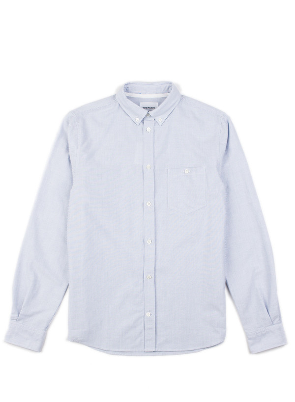 Men's Norse Projects Anton Oxford Shirt Navy Stripes