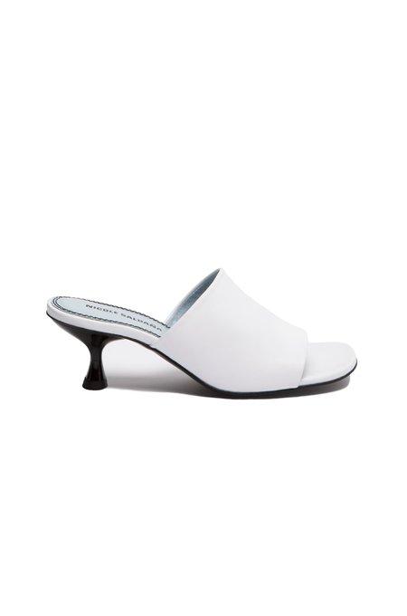 Nicole Saldana susan heels - white napa