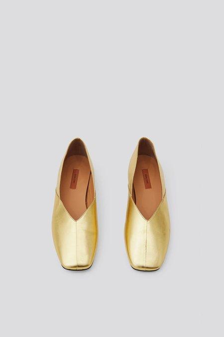 Rachel Comey Bombi Flat Shoes - Metallic Gold