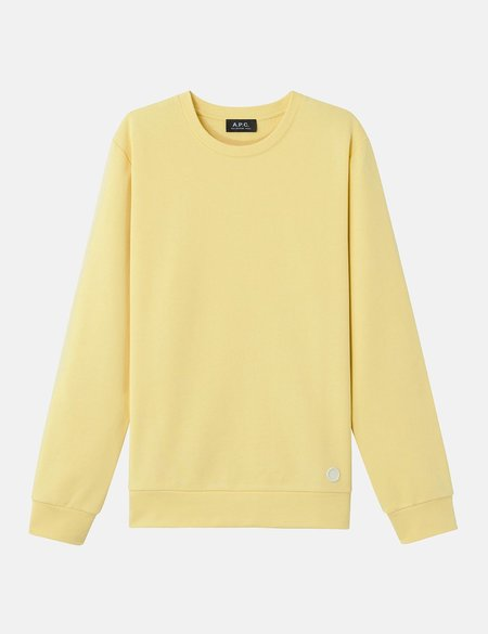 A.P.C. Label Sweatshirt - Pale Yellow
