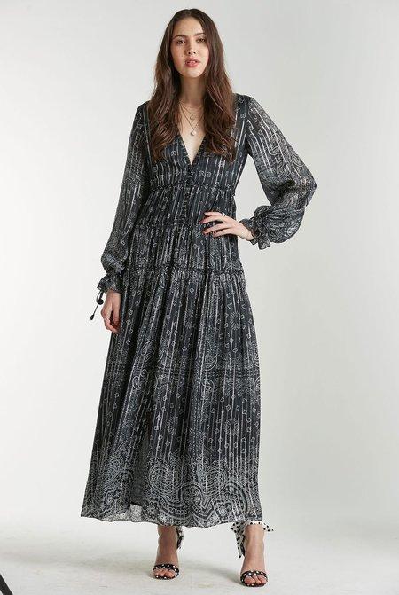 Rococo Sand Long Dress - Black