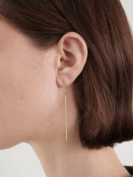kathleen whitaker gold stick + strand earring