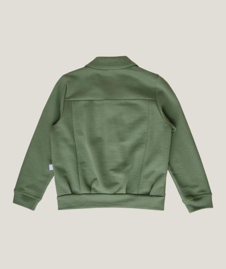 Kids Granelito Organic Pima Cotton Jersey Jacket - Forest Green