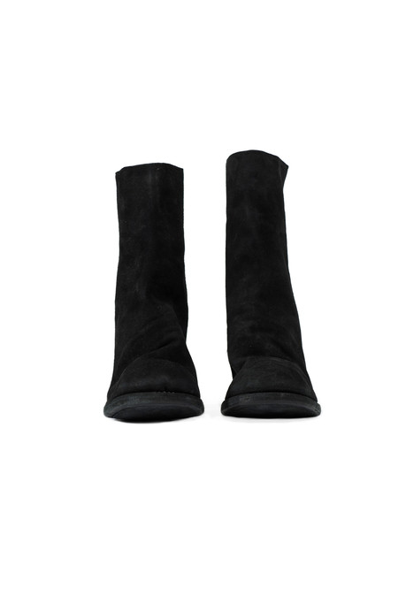 GUIDI 3006 back zip high heel black boots