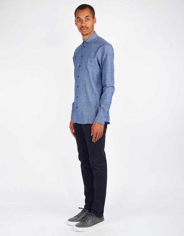 Men's Minimum Black Thompson Shirt Dark Navy