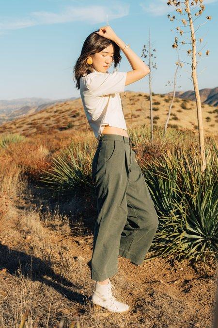Jess Meany Pleated Dani Pant - Stonewash Olive