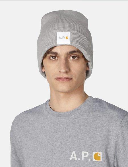 A.P.C. x Carhartt WIP Watchtower Beanie Hat - Light Grey