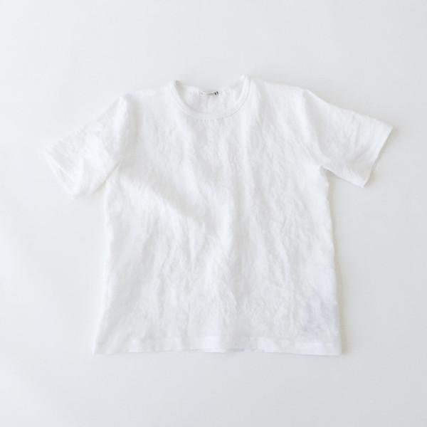 b White Linen T-shirt