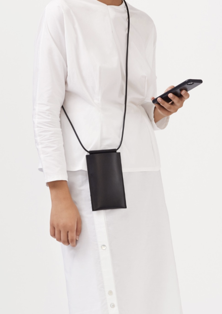 Building Block iPhone Sling - Black Leather