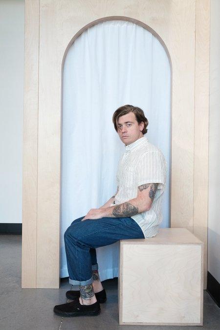 Naked & Famous Striped Short Sleeve Easy Shirt