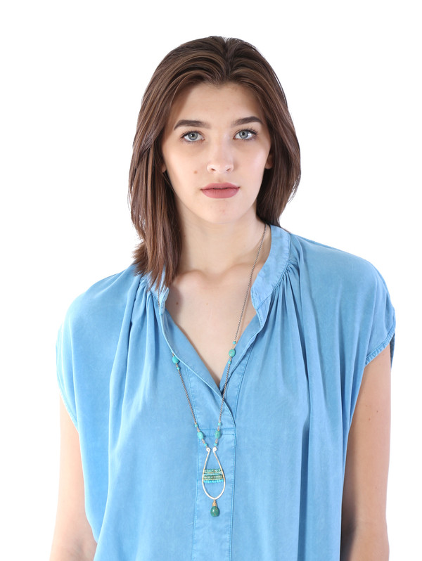 THE ODELLS Classic Tunic in Turquoise