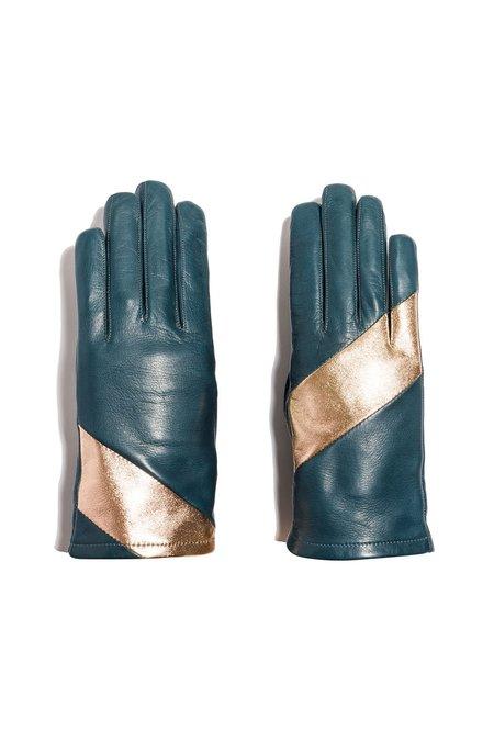 MAISON FABRE Fauve Gloves - Teal