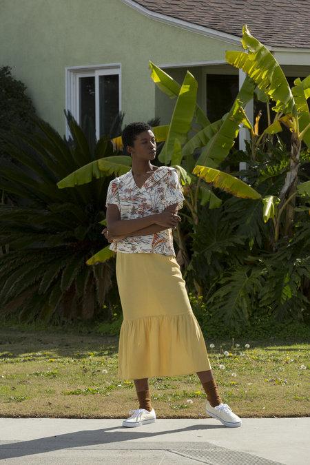 Carleen Surrounded Islands Skirt - Yellow