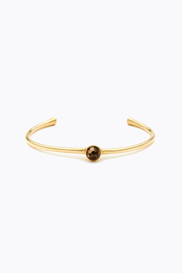 Odette New York Astra cuff in brass & unakite