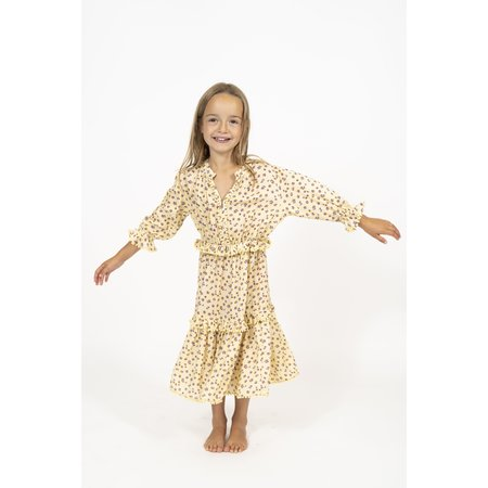 simple kids agra dress - yellow