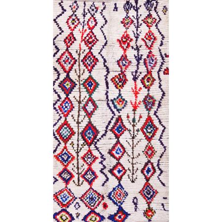 vintage Moroccan Azilal Stacked Diamonds Wool Rug
