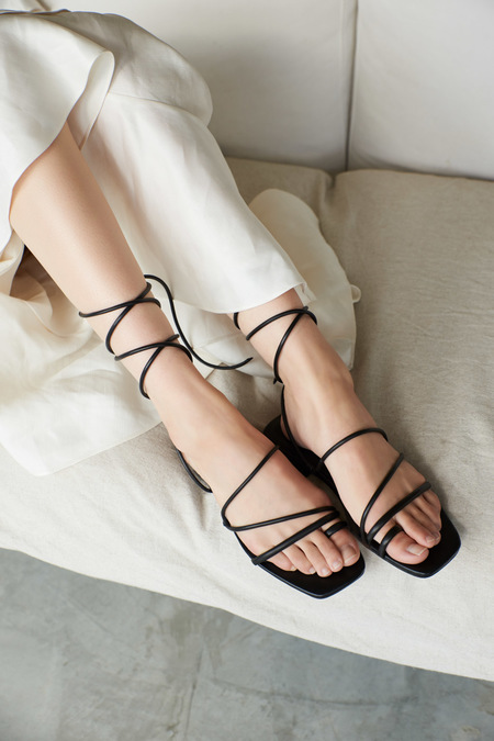 Nelson Made ROBERTA SANDAL - Black