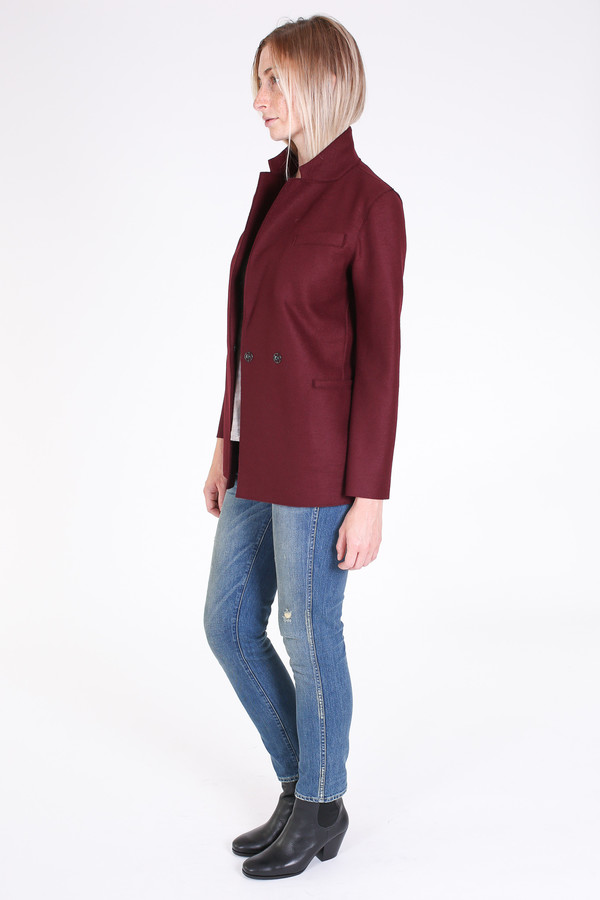 Harris Wharf London Double breasted blazer in cinabre