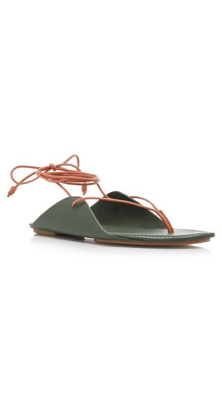 Ulla Johnson Aidy Sandals - Army Green/Orange