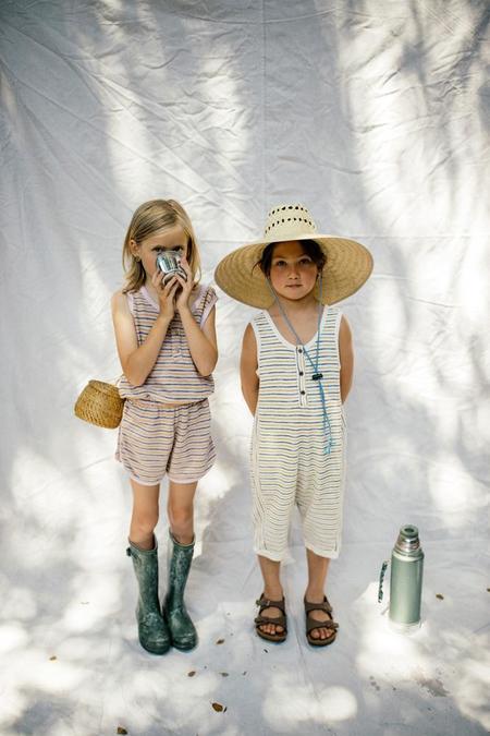 Kids nico nico Jayne Romper - Wisteria Stripe