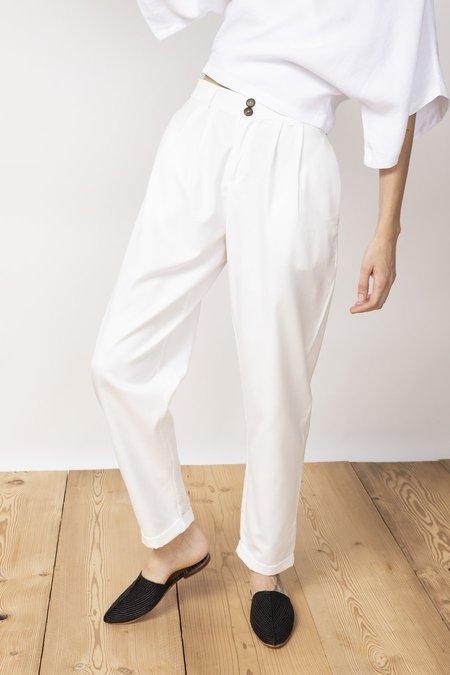 Jungle Folk Duoro Cotton Trousers - white