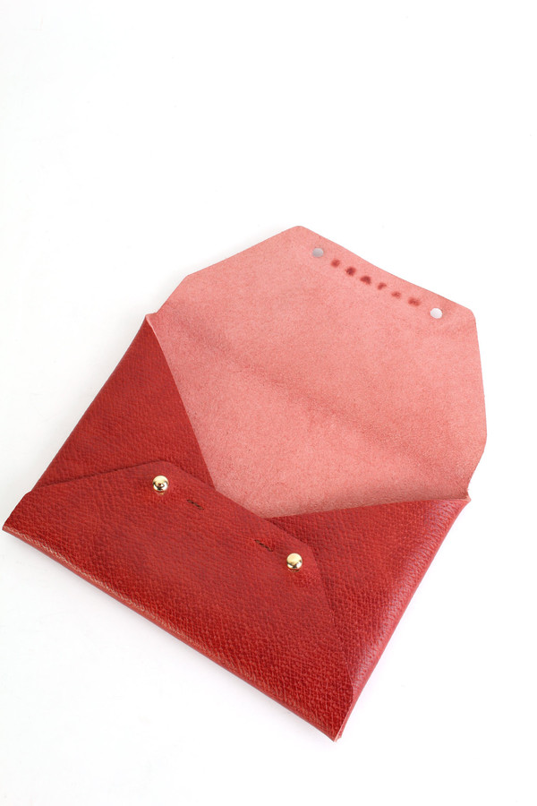 Sevlyn Envelope clutch in red