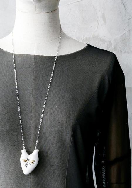 Studio Elica 'Majesty' Porcelain Anatomical Heart Necklace