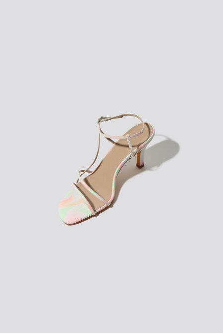Maryam Nassir Zadeh Irene Sandal - neon swirl print