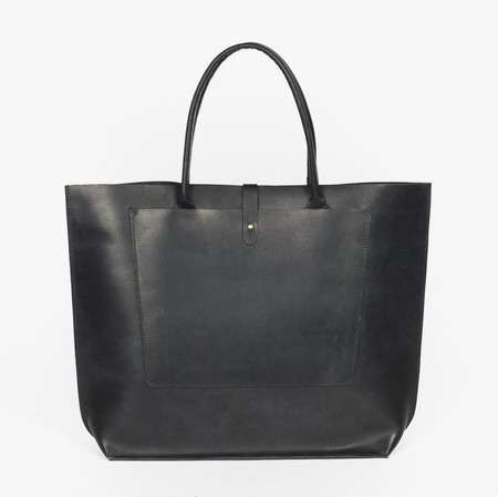 Wood & Faulk Structured Tote