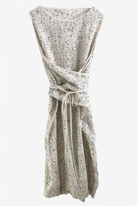 Uzi NYC Oxford Dress - Splatter/Cream