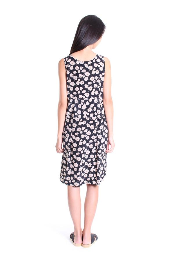 No.6 Store Melanie piece dress in black anemone print