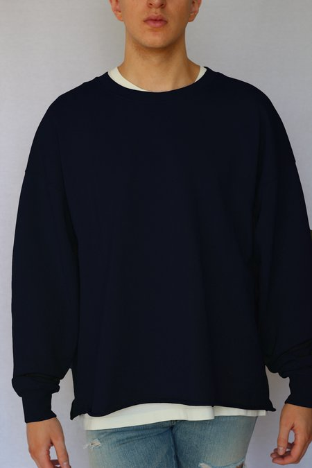Commun des Mortels oversized raw-edge sweatshirt - navy blue