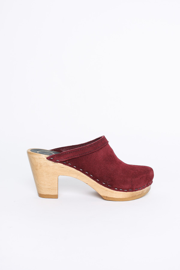 No.6 Store Clogs Old school clog in burgundy