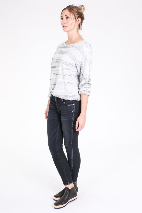 Raquel Allegra Raglan marble sweatshirt in grey