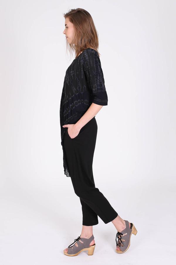 Raquel Allegra Side shred tee in black
