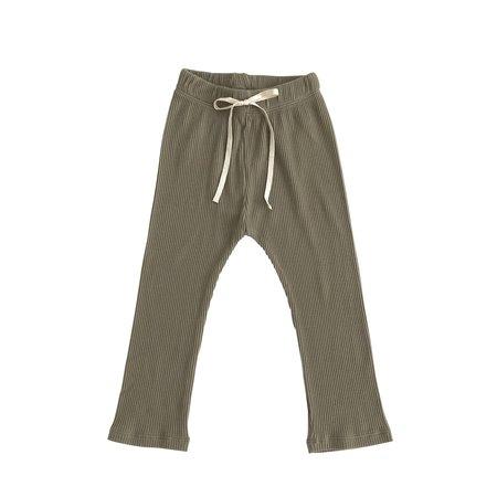 Kids Liilu Rib Legging - Dry Green