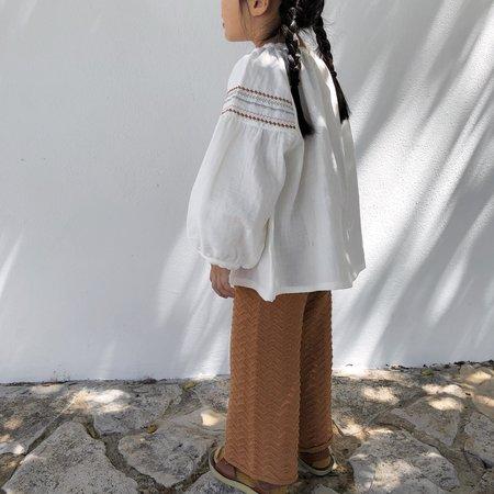 kids Liilu Chevron Knit Pant - Terracotta