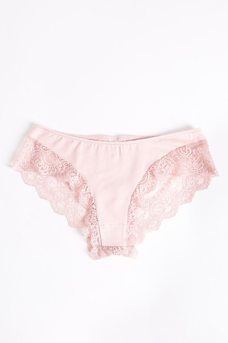 Only Hearts So fine hipster with lace back in nudie