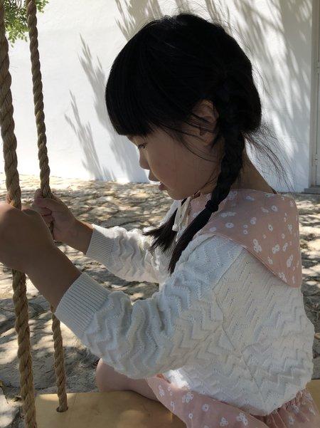 kids Liilu Chevron Knit Pullover