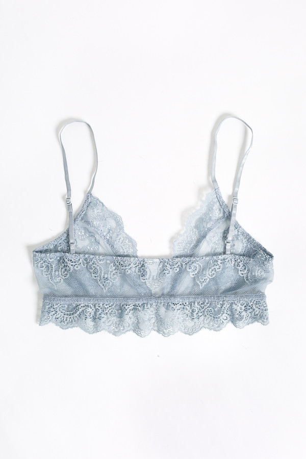 Only Hearts So fine lace bralette in silver blue
