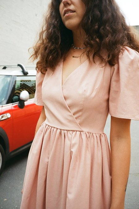 Lisa Says Gah Topanga Midi Dress - Rose