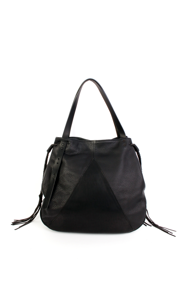 Map of Days Triangle tote in black