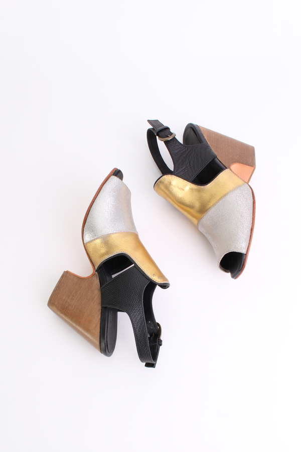 Rachel Comey Vala heel in metallic