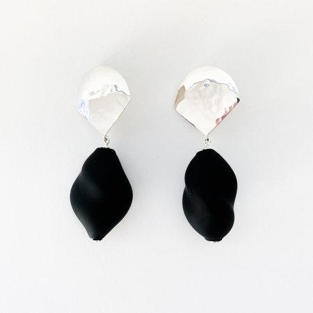 Crescioni lucia earrings - black