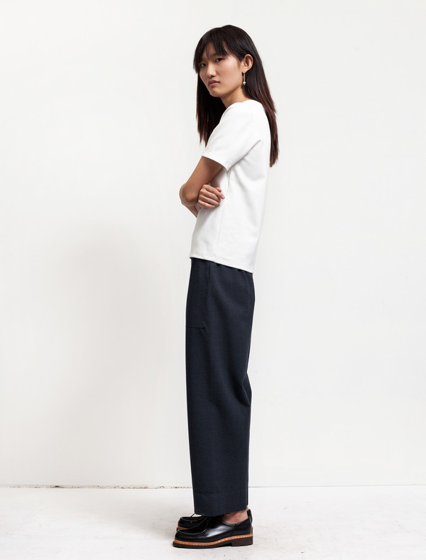 Lemaire Elasticated Pants Cropped Onyx
