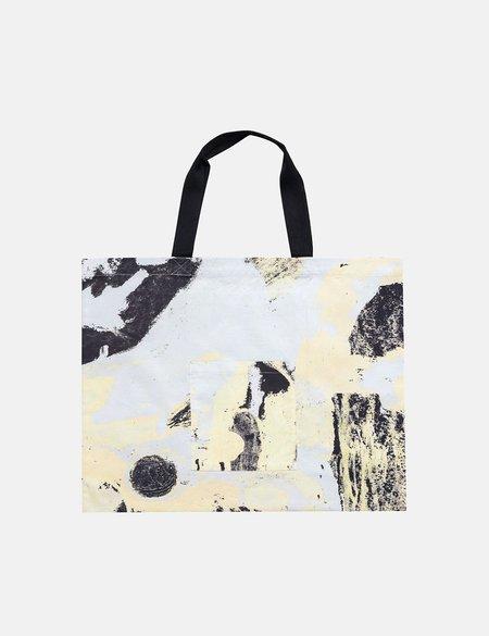 Folk Clothing x Alfie Kungu Tote Bag with Flare Print - Light Gold